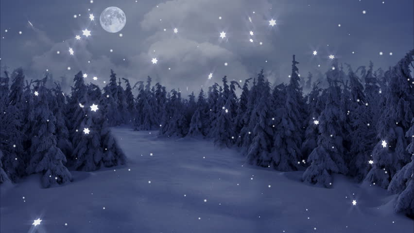 New Year,christmas,3d winter background and moon