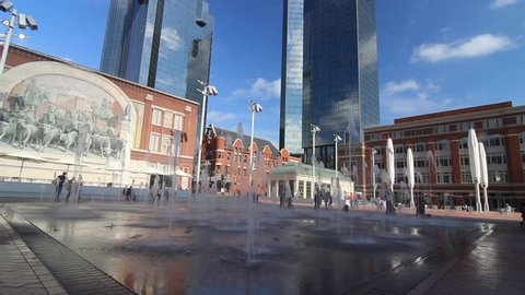 The new Sundance Square in Downtown Fort Worth
