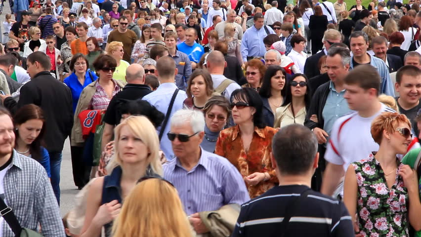 KIEV, UKRAINE, MAY 9, 2011: People crowd timelapse, Kiev, Ukraine, May 9, 2011 #5120435