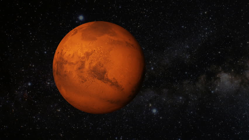 Animated One Revolution Of Planet Mars With Correct