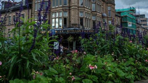 Betty's Tea shop in Harrogate time lapse