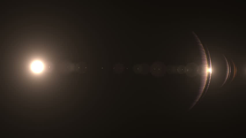 Fancy Light Effects In A Dark Background Stock Footage: Lens Flare Effect On Black Background (rim Light) Stock