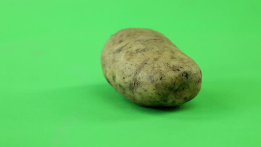 Potatoes on a turn table isolated green screen, seamless loop | Shutterstock HD Video #5224865