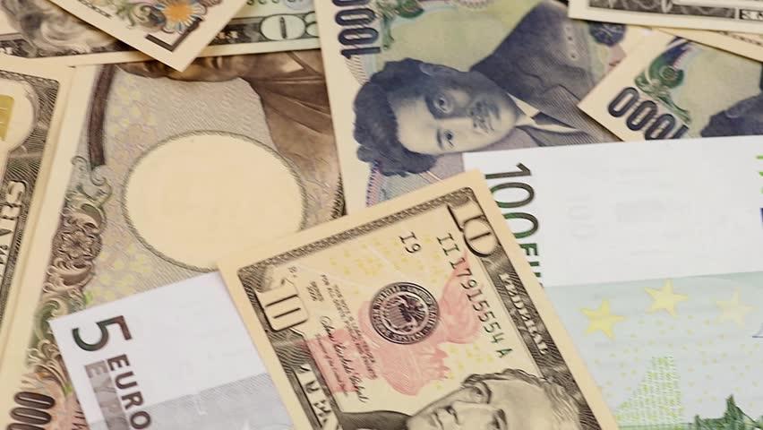 Us Dollars Euro Anese Yen