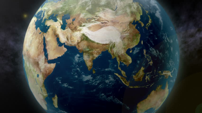 Earth zoom to India. Available in 4K Ultra HD. #5235785