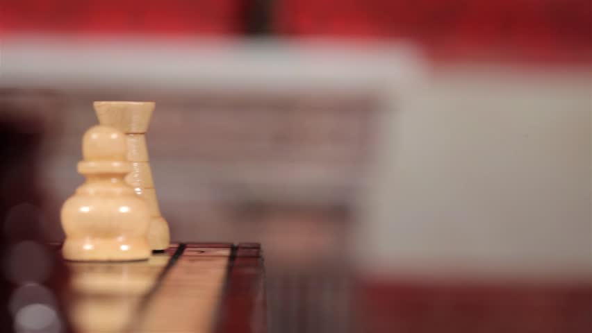 Chess game. Full HD. Motion and loop video. Close up