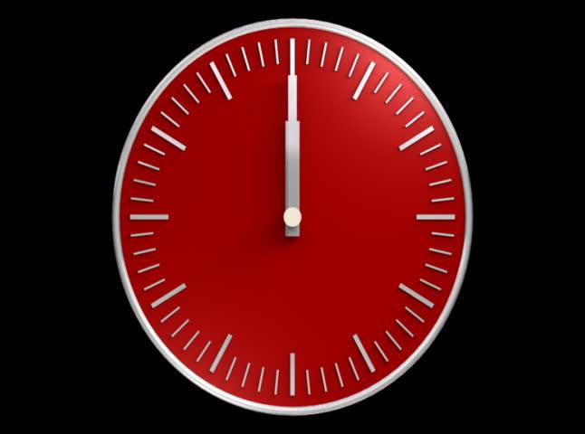 Red clock. NTSC.