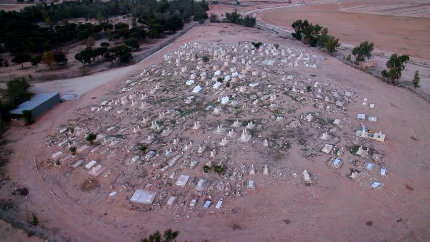 Cemetery Aerial top shot