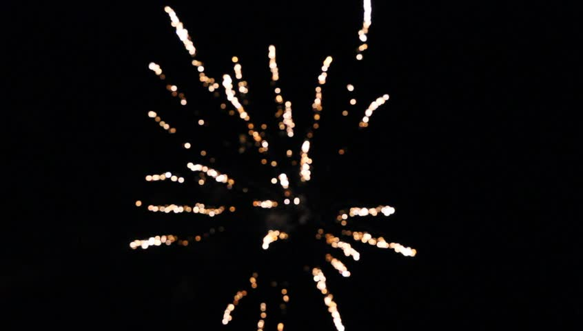 Night fireworks in the sky for a holiday | Shutterstock HD Video #5334545
