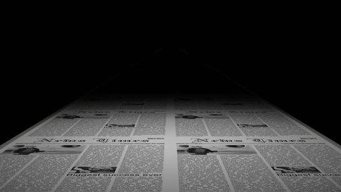 Newspaper press at work - seamless loop