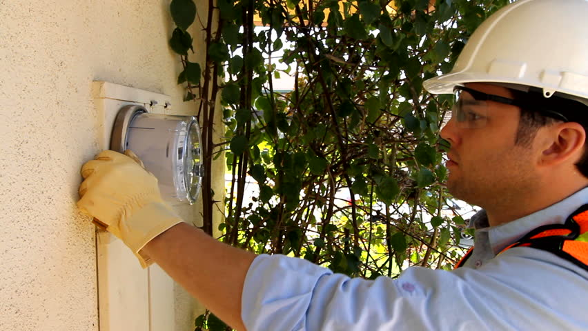 This digital, smart meter is ready to help resident conserve energy. Shot with a Canon 7d.