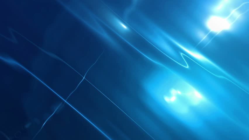 Ultra HD 4K Abstract Motion Blue Background With Lens Flares