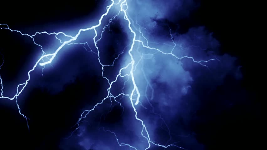 Blue lightning | Shutterstock HD Video #5376179