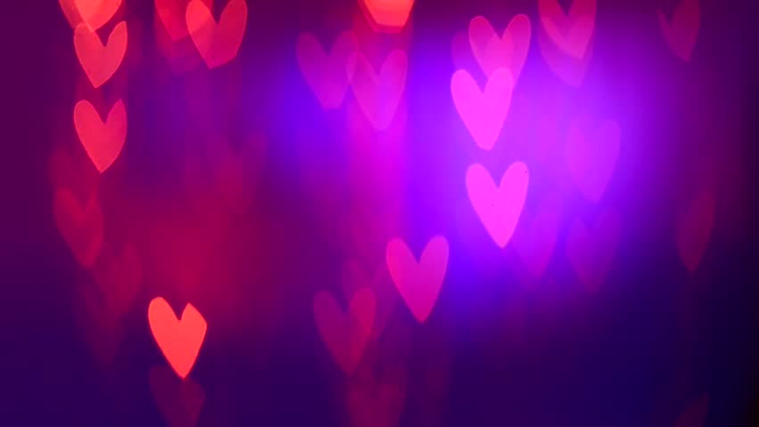 valentines day background holiday blinking abstract valentine background with hearts hd video footage - Valentines Day Videos