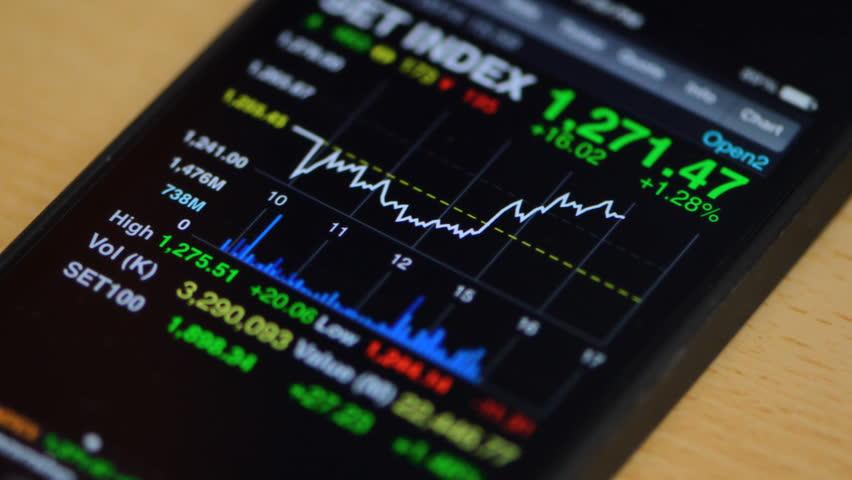 Stock market on smart phone | Shutterstock HD Video #5411159