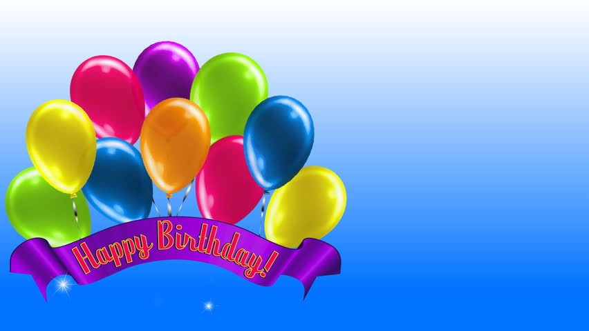 Happy Birthday Banner Stock Video Footage - 4K and HD ...