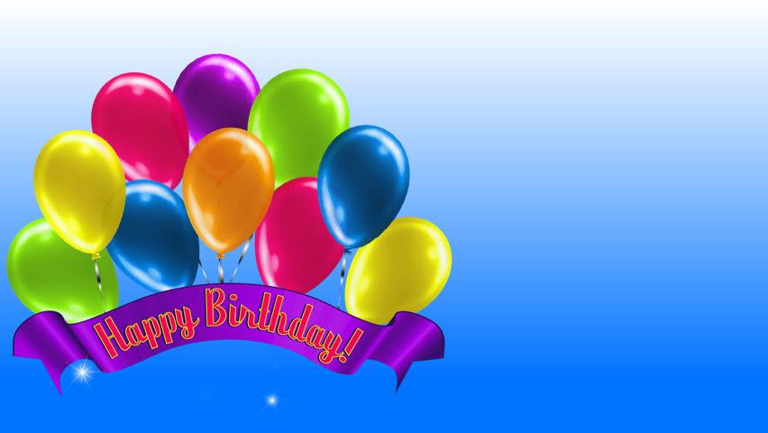 Happy birthday banner stock footage video shutterstock - Happy birthday balloon images hd ...