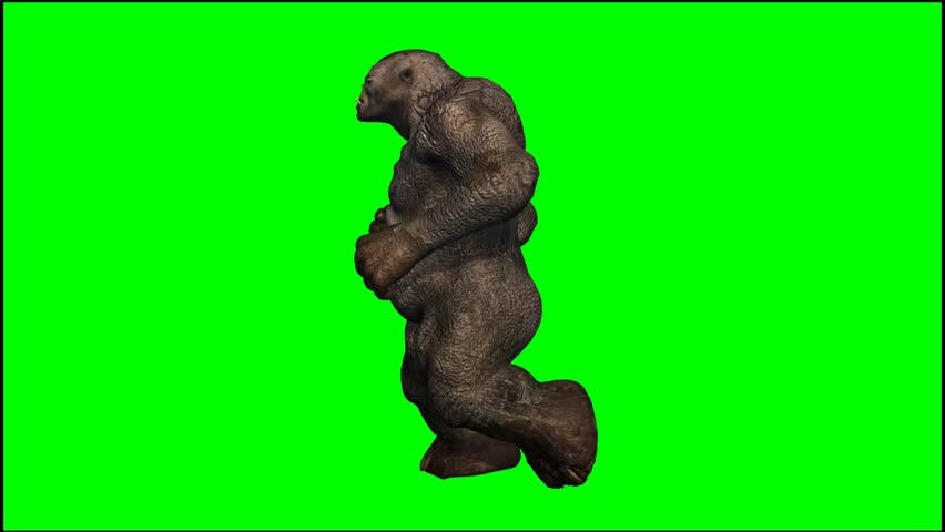Troll mystical creature run - seperated on green screen  #5434355
