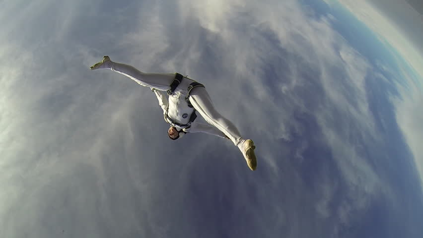Skydiver freestyle woman | Shutterstock HD Video #5436035