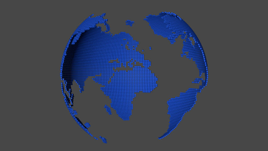 3d animation 3d rendering earth world map and people stock dotted world map rotating with alpha channel and also loopable hd stock video clip gumiabroncs Image collections