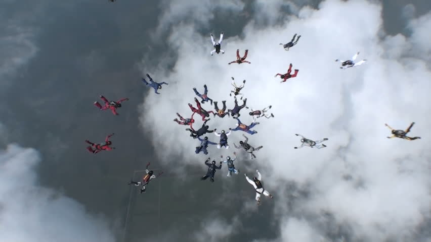 Skydiving video. | Shutterstock HD Video #5441765