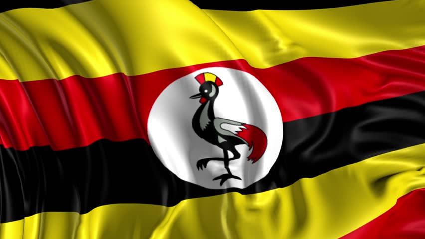 Flag of Uganda Beautiful 3d Stock Footage Video (100% ...