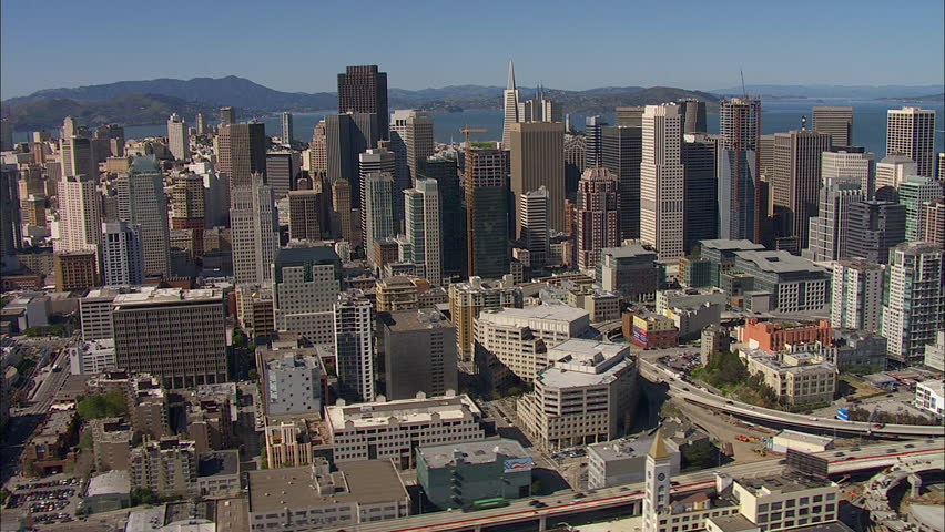 San Francisco. Aerial shot of San Francisco on a clear, sunny day.