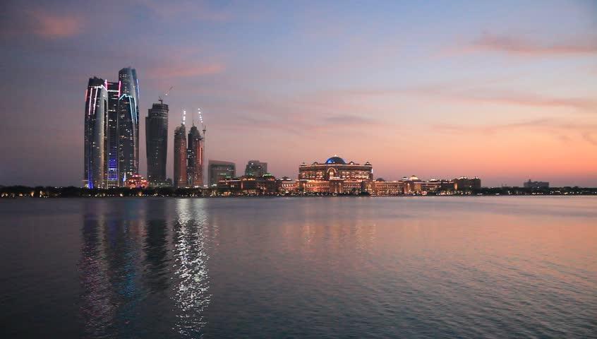 Beginning of the sunset in Abu Dhabi