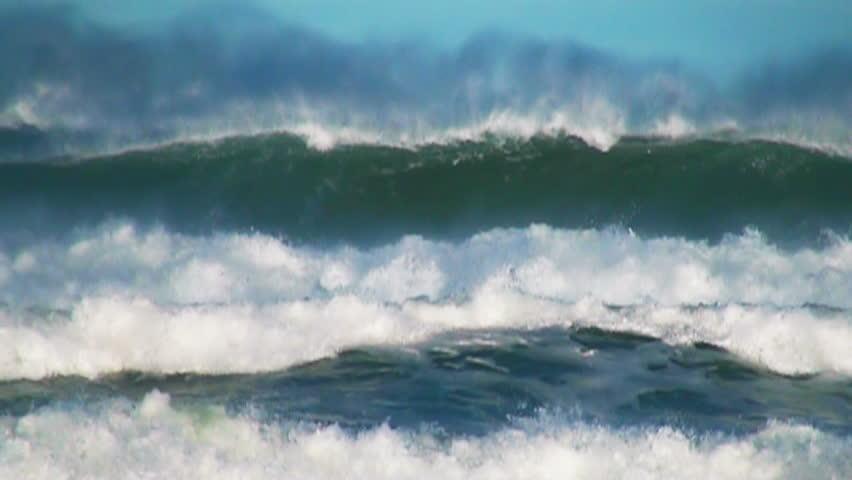 Ocean very big wave sea spray