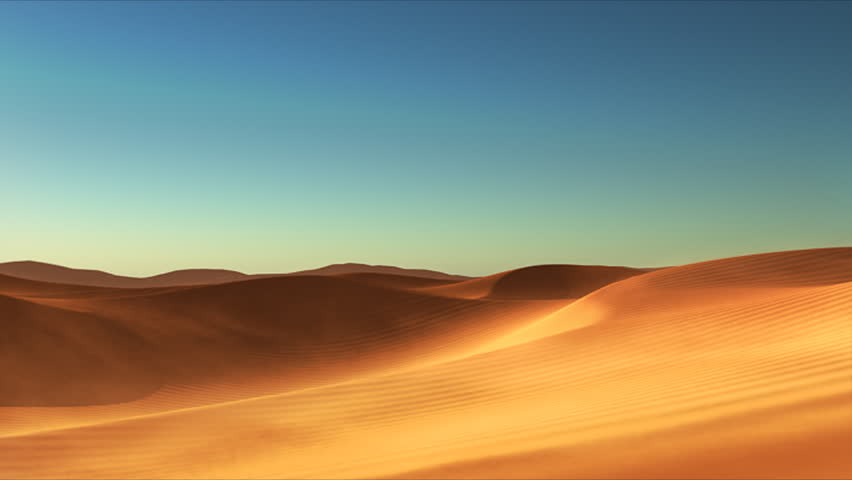 3D animated desert with dunes and sand #5500523