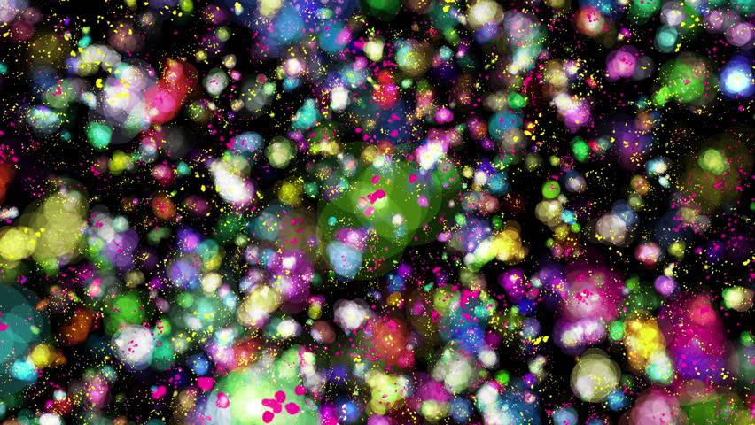Abstract colourful particles. useful background visuals for vj loops, clubs and events