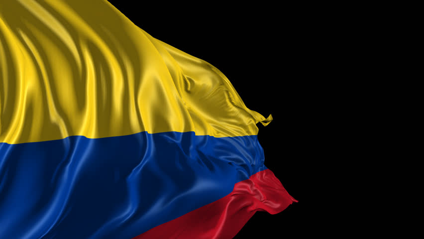 Flag Of Colombia Beautiful 3d Animation Stock Footage Video 100