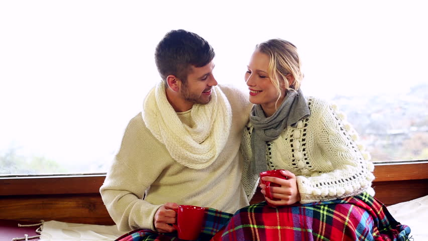 Stock Video Of Cute Couple Relaxing Together Under A