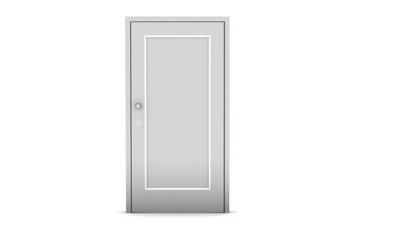 Door - HD stock video clip  sc 1 st  Shutterstock & Door Opening On White Background Stock Footage Video 775687 ... pezcame.com