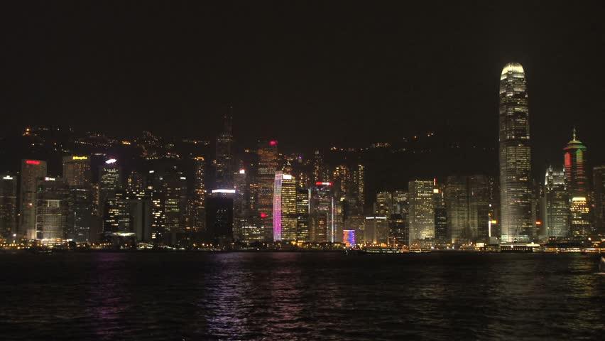 Hong Kong skyline light show | Shutterstock HD Video #5611565