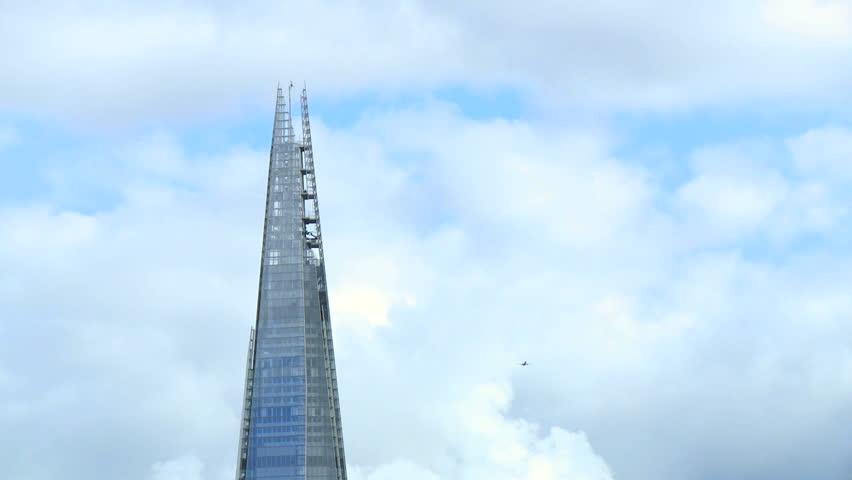 LONDON, UK - CIRCA SEPTEMBER 2013. The Shard is an 87 storey skyscraper that