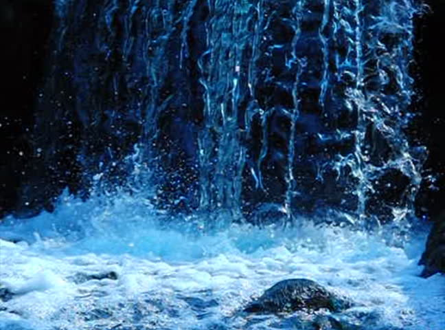 High Speed Camera Waterfall E 12 Slow Motion x15 Loop