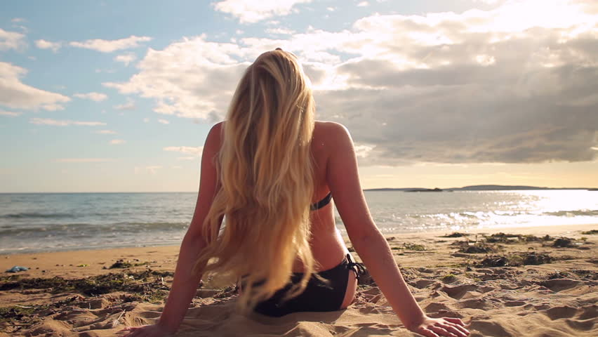 With you blond girl on beach opinion