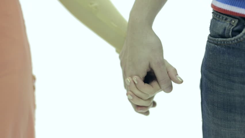 Hand in hand love athletes on ice winter sport date