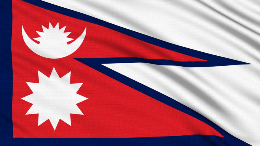 Nepal Flag, with Real Structure Stock Footage Video (100% Royalty-free)  567655 | Shutterstock