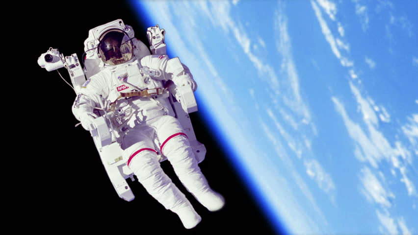 Stock video of astronaut spacewalk by earth | 5677475 ...
