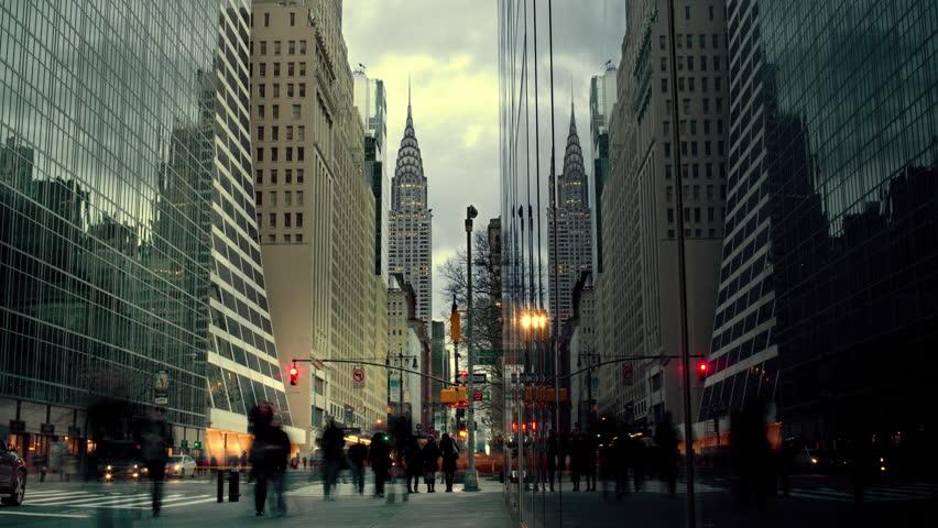 People walking on street in New York City | Shutterstock HD Video #5683673