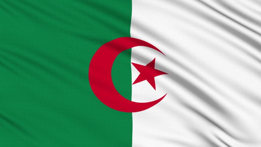 Algeria Flag Animation