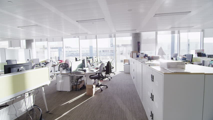 Stock Video Of Interior View Of Empty Office Work