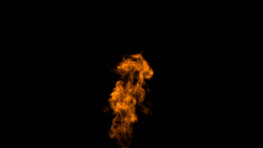 igniting fire isolated on black background. Alpha-channel included  (full Hd ,slow motion, 1920x1080, high definition, 1080p) isolated on black
