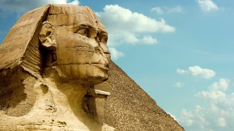 timelapse clouds quickly fly over the Sphinx 4K