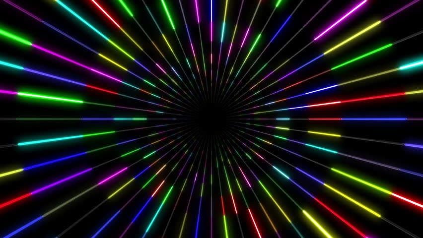 Bright Funky Neon Lights Background Stock Footage Video