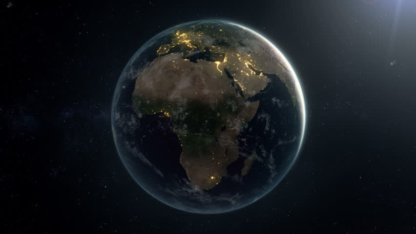 Seamless looping earth by night.A matte is added in the end so the animation can be placed over your own background. Check out a 4k still here: http://www.lucidpixel.nl/img/Stills/EarthLoopNight4K.jpg | Shutterstock HD Video #5762705