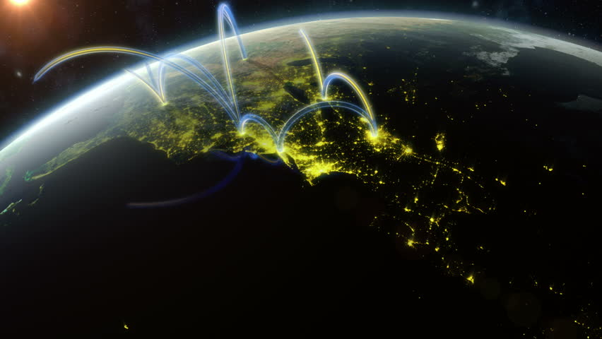 Global Network. Animation showing a data network spreading across the world. Created in 4K. Check out a 4k still here: http://www.lucidpixel.nl/img/Stills/GlobalNetwork_4K.jpg | Shutterstock HD Video #5762708