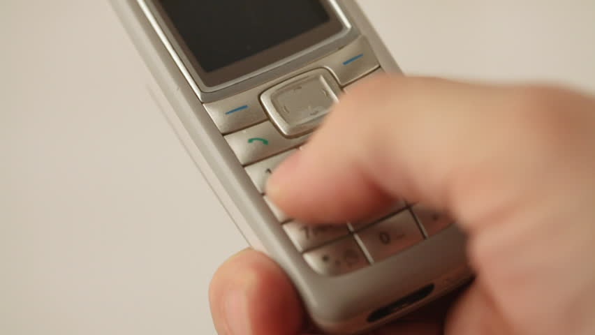 Text Messaging - sending SMS from an old mobile phone    Shutterstock HD Video #5789645
